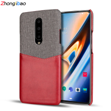 Original Luxury Leather Phone Case for One Plus 7 Pro 6 6T Soft Fabric Thin Light Card Slot Holder Hard Back Cover for Oneplus 7