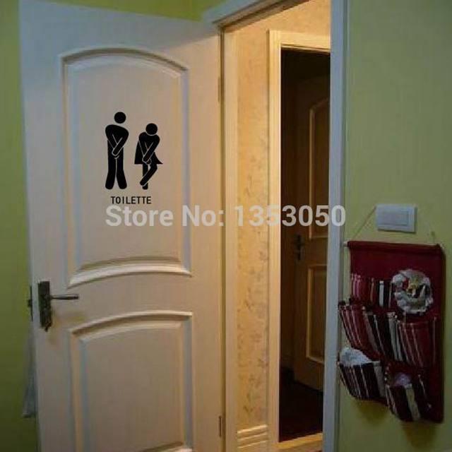 Französisch Wand Aufkleber Lustige Wc Eingang Zeichen Aufkleber Für  Frankreich Home Restaurant Toilette Decor, Freies Verschiffen FR300