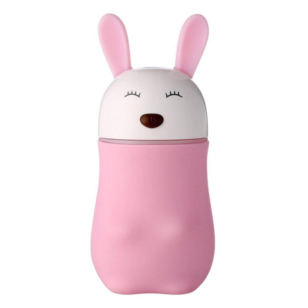 Mini Rabbit Air Humidifier Air Purifier Aroma Diffuser USB Charging Mist Maker Essential Oil Diffuser For Car Home usb mini cartoon cat humidifier with night lamp car vehicle animal silent air purifier aroma diffuser mist maker essential oils
