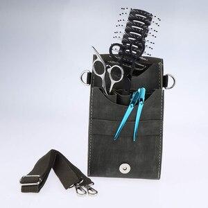 Image 4 - Funda para tijeras soporte para tijeras de peluquero profesional, bolsa para herramientas de peluquero, estilista, contenedor de Peine