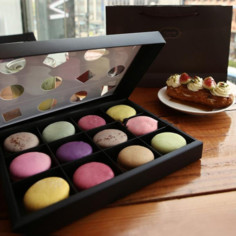 12 pcs Macaron Box Cake Paper Boxes DIY Cake Gift Cookie ...