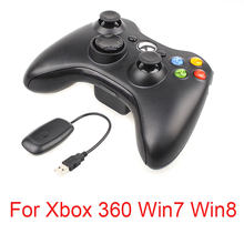 Joystick de Gamepad inalámbrico de 2,4G para mando de XBOX 360 Joypad para control XBOX360 para Windows 7/8/10 juego de PC pad(China)