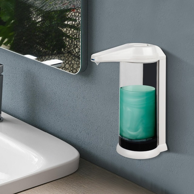 Hand Free 500ml Automatic Soap Dispenser Touchless Sanitizer Dispenser Smart Sensor Liquid Soap Dispenser for Kitchen Bathroom 5