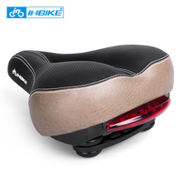 INBIKE Bicycle Saddle With Tail Light Widen Soft MTB Saddle Cushion Road Bike Seat Shock Resistant