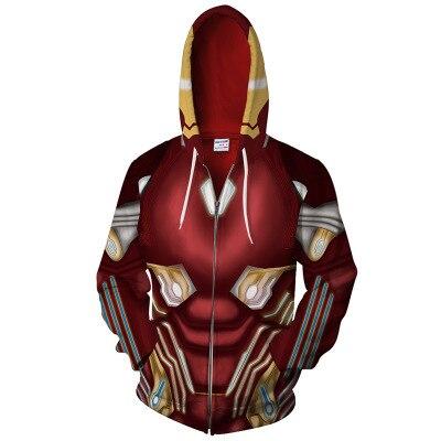 Iron Man Black Panther 3D Print Avengers Captain America Cosplay Hoodies Sweatshirts Casual Zipper hooded Jacket clothing