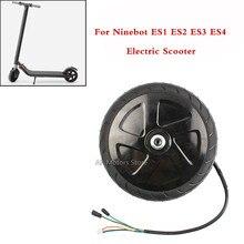 KickScooter Black Scooter Motor Wheel For Ninebot ES1 ES2 ES3 ES4 Electric Scooter ninebot nine electric scooter plastic basket rear install for ninebot kickscooter