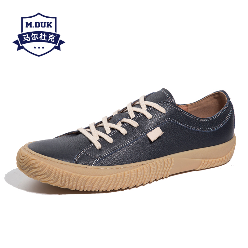 spring autumn summer Genuine Leather men s casual shoes British retro men shoes all match cowhide