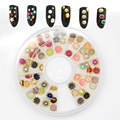 About 60Pcs/Box New Cute Styles Multicolor white rivets Rhinestone Nail Art Decoration 4mm grid Nail turntable