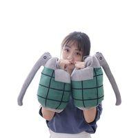 FINETOYS 8x11 Hight Quality Anime My Hero Academia Katsuki Bakugou Wrist Weapon Soft Pillows Stuffed Plush Toys Doll Cospaly