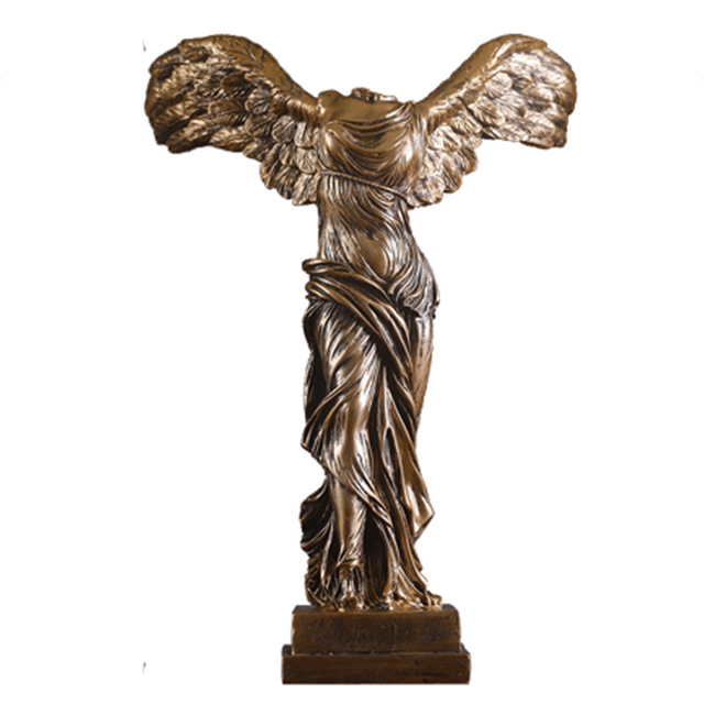 European Victory Goddess Figure Sculpture Resin Craft Ornaments Desktop Home Decor Vintage Abstract Goddess Statue Wedding Gifts