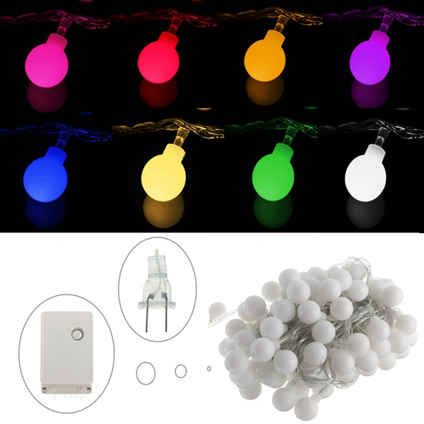 10M 100 LED Globe Balls Fairy String Light Lamp Christmas Xmas Party Decor 110V