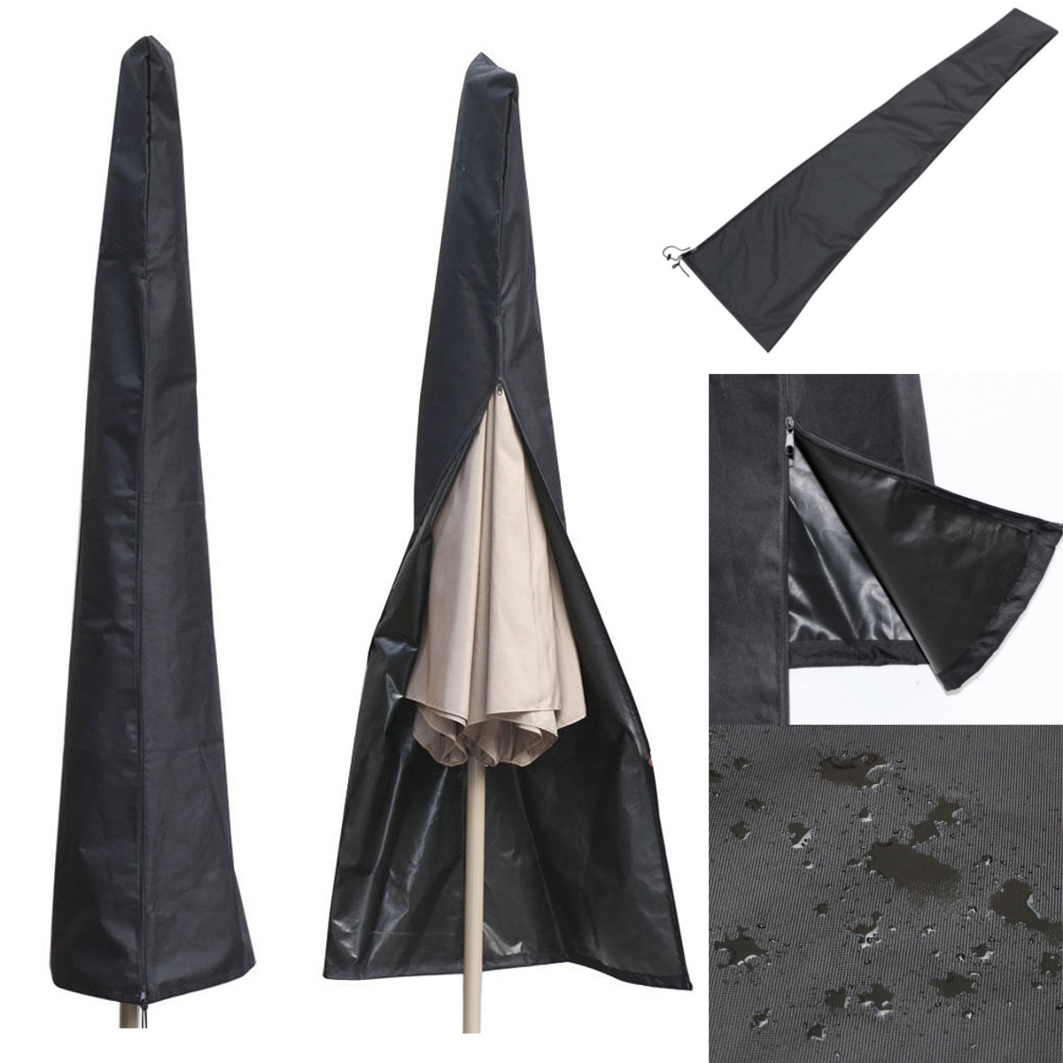 190X57X26CM Outdoor Waterproof Patio Umbrella Canopy Rain Cover Shade  Protective Sunshade Sun Shelter Shed Zipper Bag Awing Bags In Sun Shelter  From Sports ...