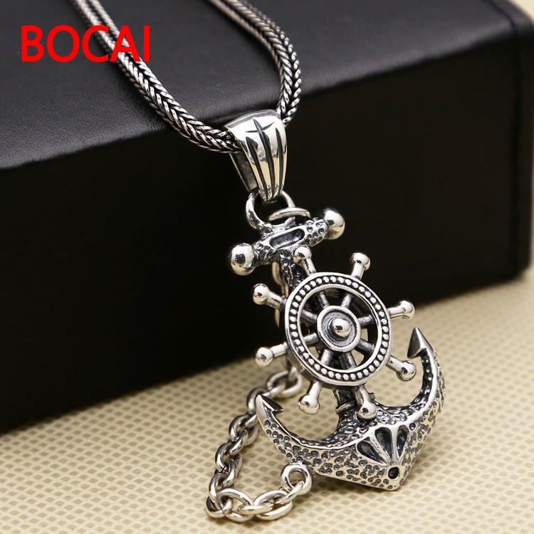 S925 Anchor Pendant Silver Pendant Chain retro Punk Pirate men s925 anchor pendant silver pendant chain retro punk pirate men