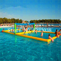 Free Shipping 0.9mm pvc Inflatable volleyball field for adult on the water,airtight technology inflatable sport games for sale