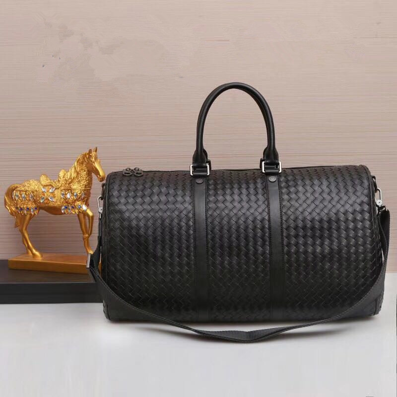 Kaisiludi Leather Woven Bag Handbag Men Travel Fitness Bag Shopping Capacity Fashion Men And Women Bag
