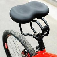 Grande ass bicicleta sela grande bicicleta ciclismo sela noseless ciclismo mtb macio pvc pu assento almofada do assento preto