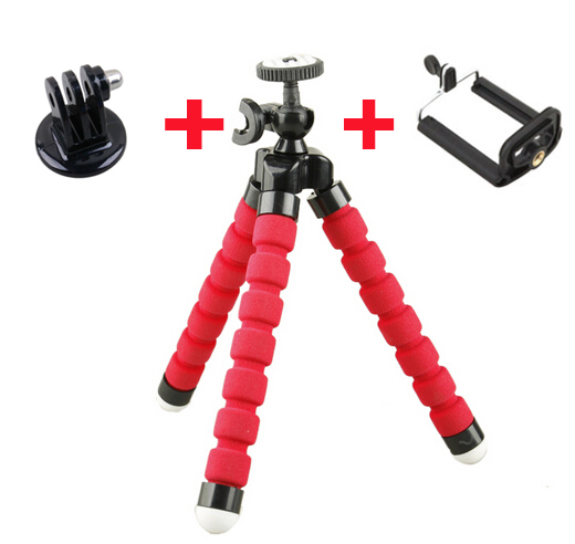 New GoPro Mini Flexible Camera Tripod Octopus Bubble Tripod with Mount Adapter for SJ4000 Camera Go Pro Hero 3+ 3 2 HD xiaomi yi