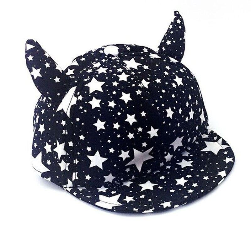 Детская шапка Обувь для девочек Обувь для мальчиков пентаграмма бык рогом дьявол Бейсбол Кепки детские летние хлопковые милые осенние звез...