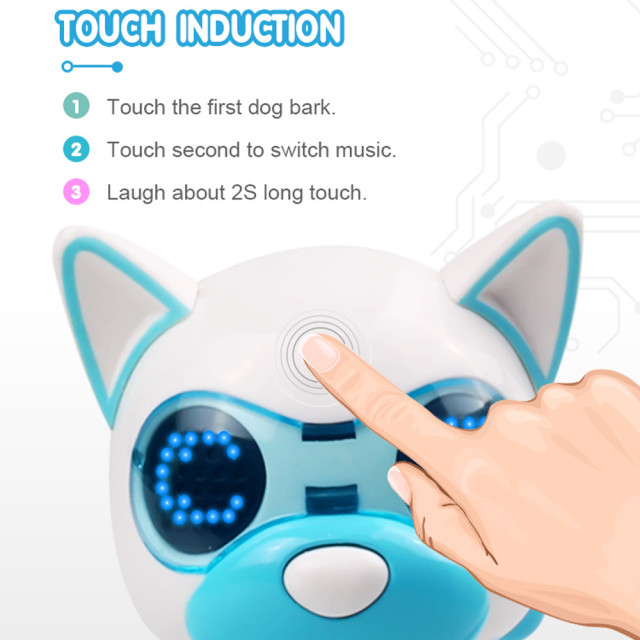 UInteractive Smart Puppy Robotic Dog LED Eyes Sound Recording Sing Sleep Cute Toy  Child Christmas Gift Fun Eject
