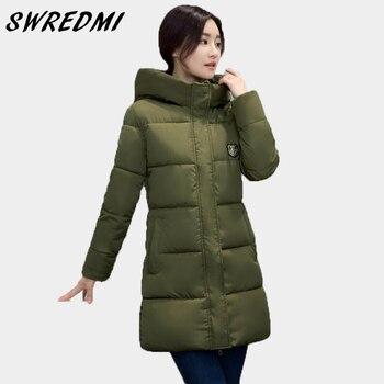 89c3479d7 SWREDMI White Winter Coat Women 2018 Hot Sale Long Parka Fashion ...
