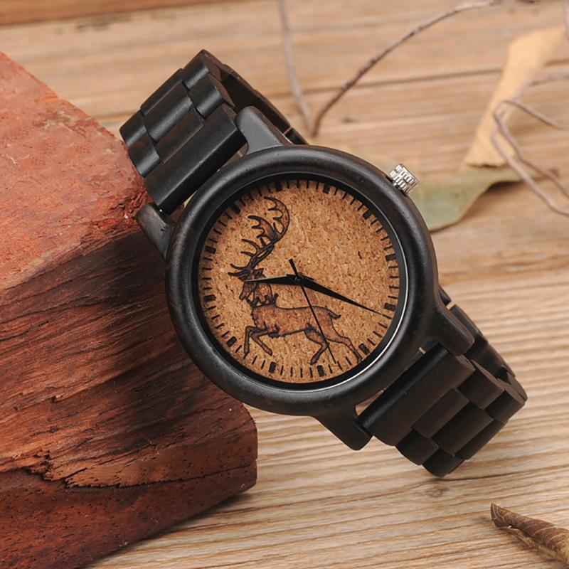 2017 New Arrival Fashion BOBO BIRD Watch Men Black Wood Wristwatches Wooden Strap Quartz Watch Gifts relogio feminino (17)