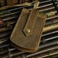 Cintura Colgar Llaves Billetera Titular de La Clave de Cuero Genuino de Los Hombres Mini Keysmart Organizador Clave Retro Estilo Ama de Llaves Del Coche