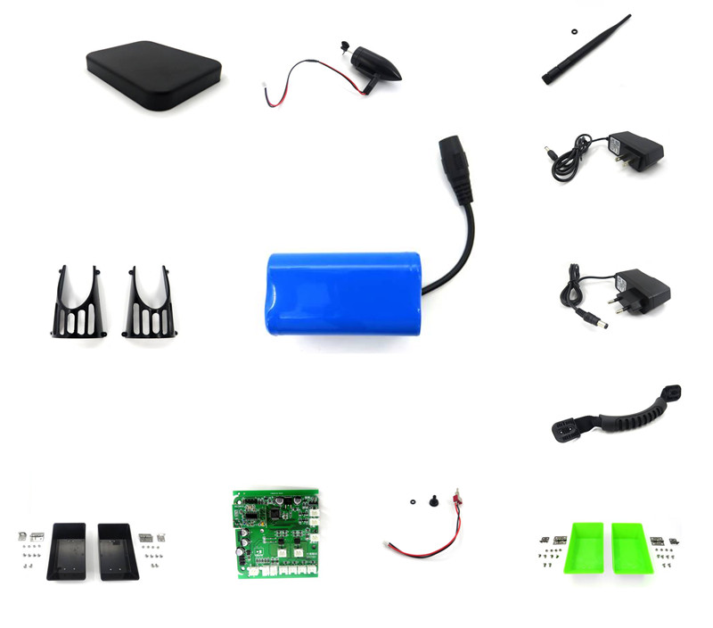 2011-5 Remote Control RC spare parts 7.4V 5200mAh Battery/antenna/Boat receiver/Charger/Motor/Battery cover and other parts