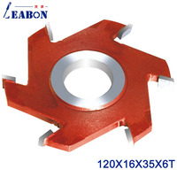 LEABON 16mm Height  & 6 Teeth  Solid Chrome Steel Slotting Cutter Head For Woodworking  120*16*35*6T