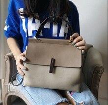 купить Ladies Casual Tote 100% Genuine Leather Luxury Handbags Women Shoulder Bags Designer Female Messenger  Crossbody Fashion Purse по цене 3346.44 рублей