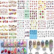 58 גיליונות פירות/שרשרת תכשיטי תבנית נייל מדבקות אמנות ציפורן העברת מים מדבקות מעורב נייל טיפים מדבקות דקור BESTZ455 512