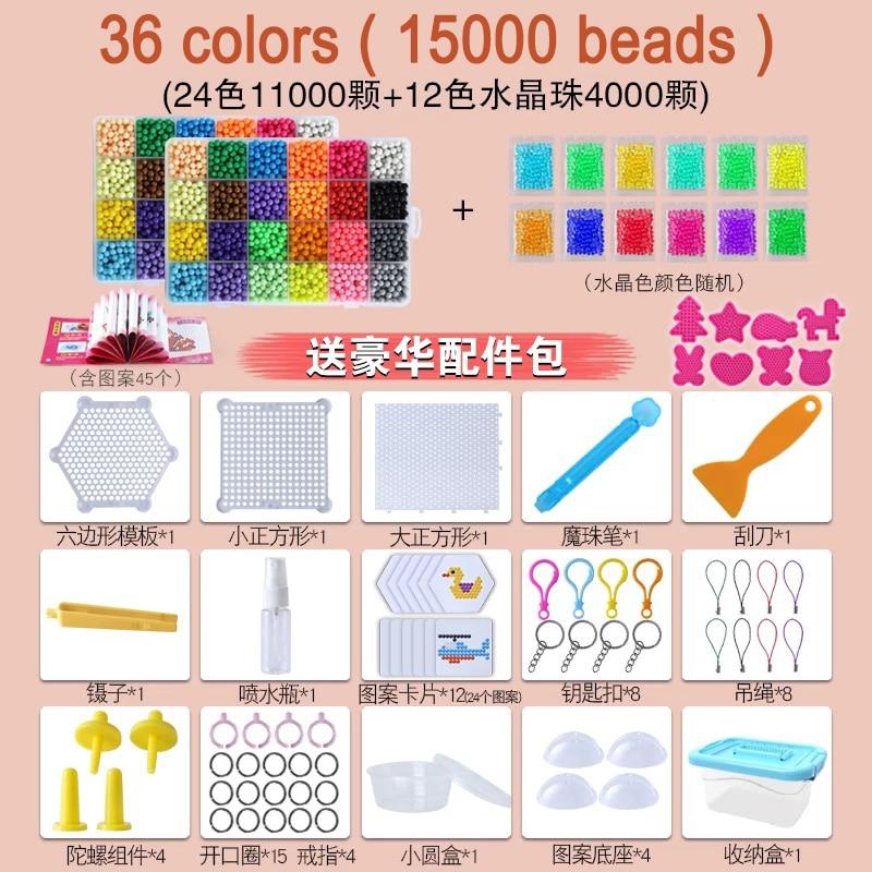 Montessori Education Brain Creative Magic Aqua Beads Box Kit Girls Boys Crystal Kid Baby Toy Children Handmade Diy 3 5 7 8 Years #3
