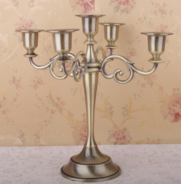 candle holder 5 arms candle stand wedding event candelabra candelabra 27cm tall candle. Black Bedroom Furniture Sets. Home Design Ideas