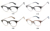 Perseguindo marca 2016 novos óculos de acetato quadro metade moldura redonda tarja espetáculo quadro metal espelho legscs115034