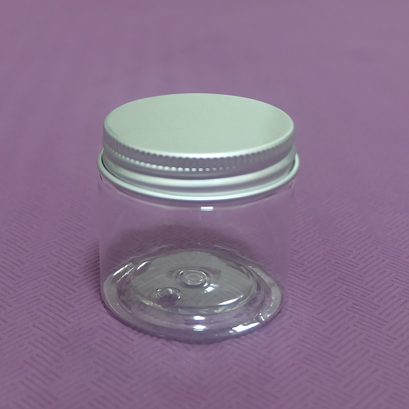 Refillable 50g Plastic Jar for Cosmetic Facial Cream Container Empty Pill Capsule Packaging Bottles