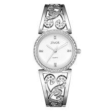 1a82923ec85 ZIVOK Royal mujeres del cuarzo relojes pulsera Top marca de lujo de diseño  decoración de cristal de diamante elegante reloj 2018