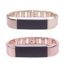 Замена запястье браслет ремешок из нержавеющей стали для Fitbit Alta Роскошные элегантные