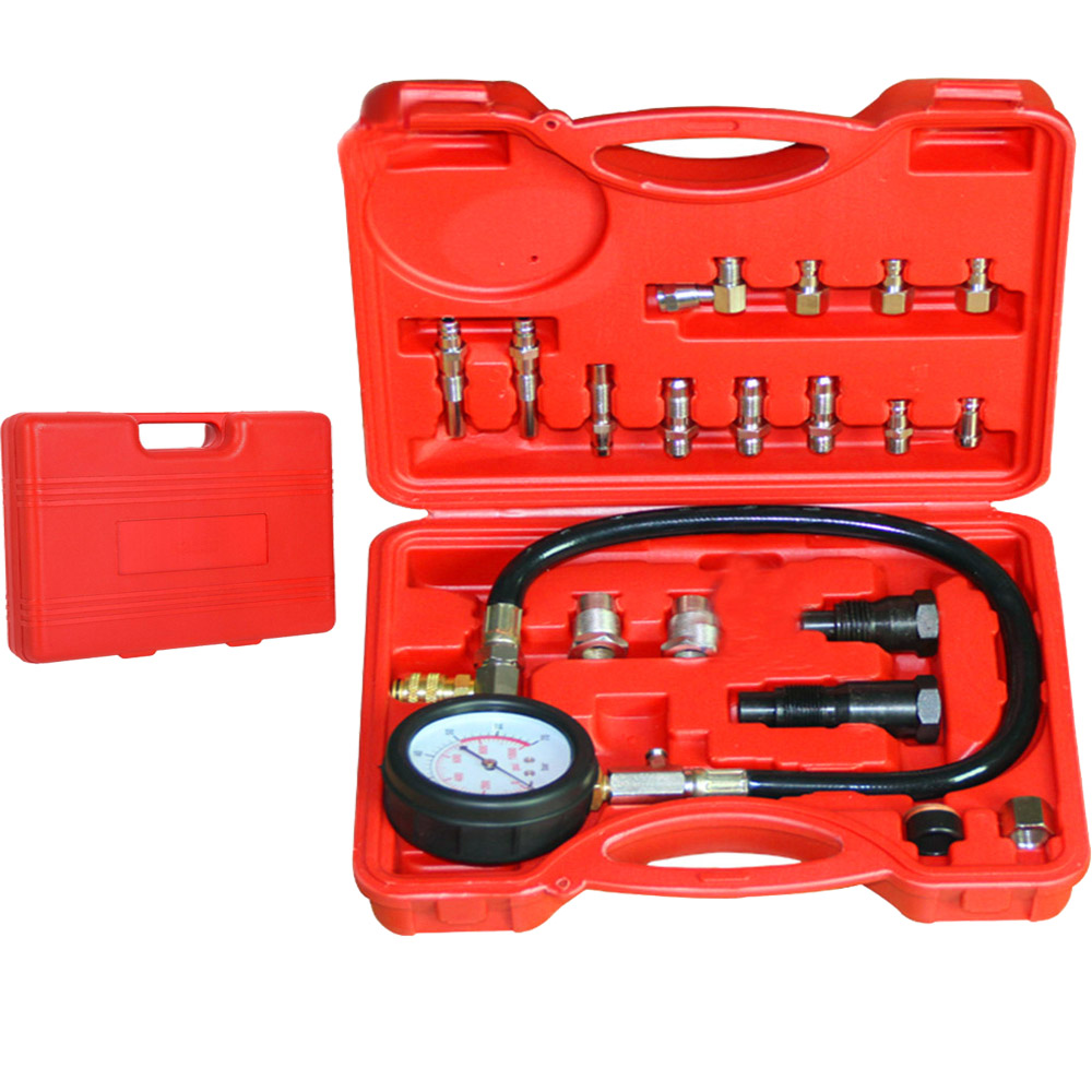 TU-15A Diesel Engine Compression Cylinder Pressure Tester Gauge Kit 1000 psi Tester Leakage Diagnostic Compressometer Gauge automotive tools tu 15a diesel engine compression tester kit engine pressure gauge 0 1000psi