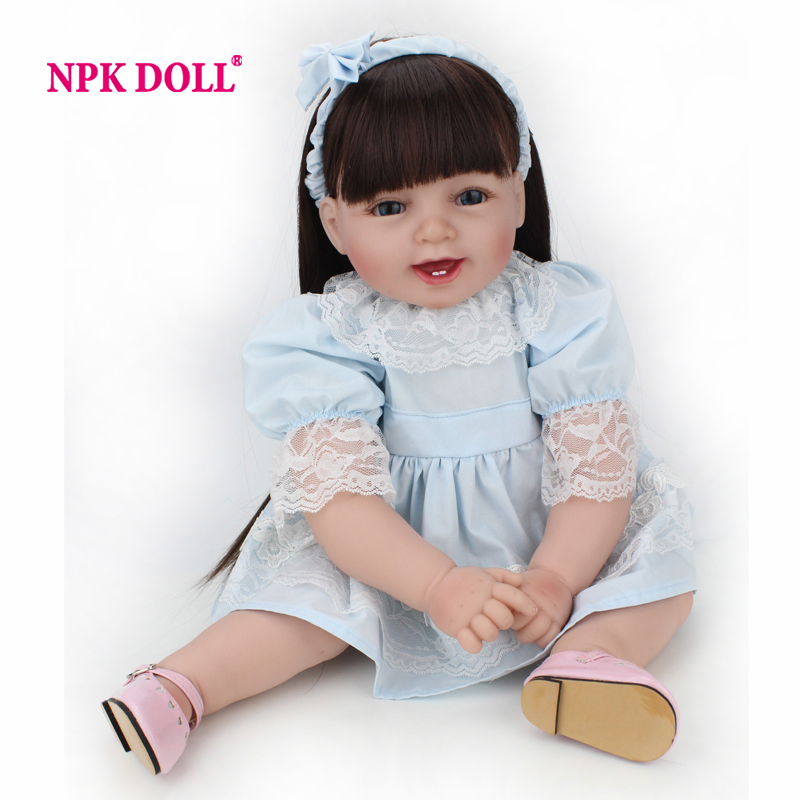 Silicone Reborn Baby Doll  Princess Baby Girl  22 Inch Lifelike  Baby Alive Dolls Gift For The New Year 3 5mm audio anti dust plug w rhinestone for iphone ipad cell phone black silver