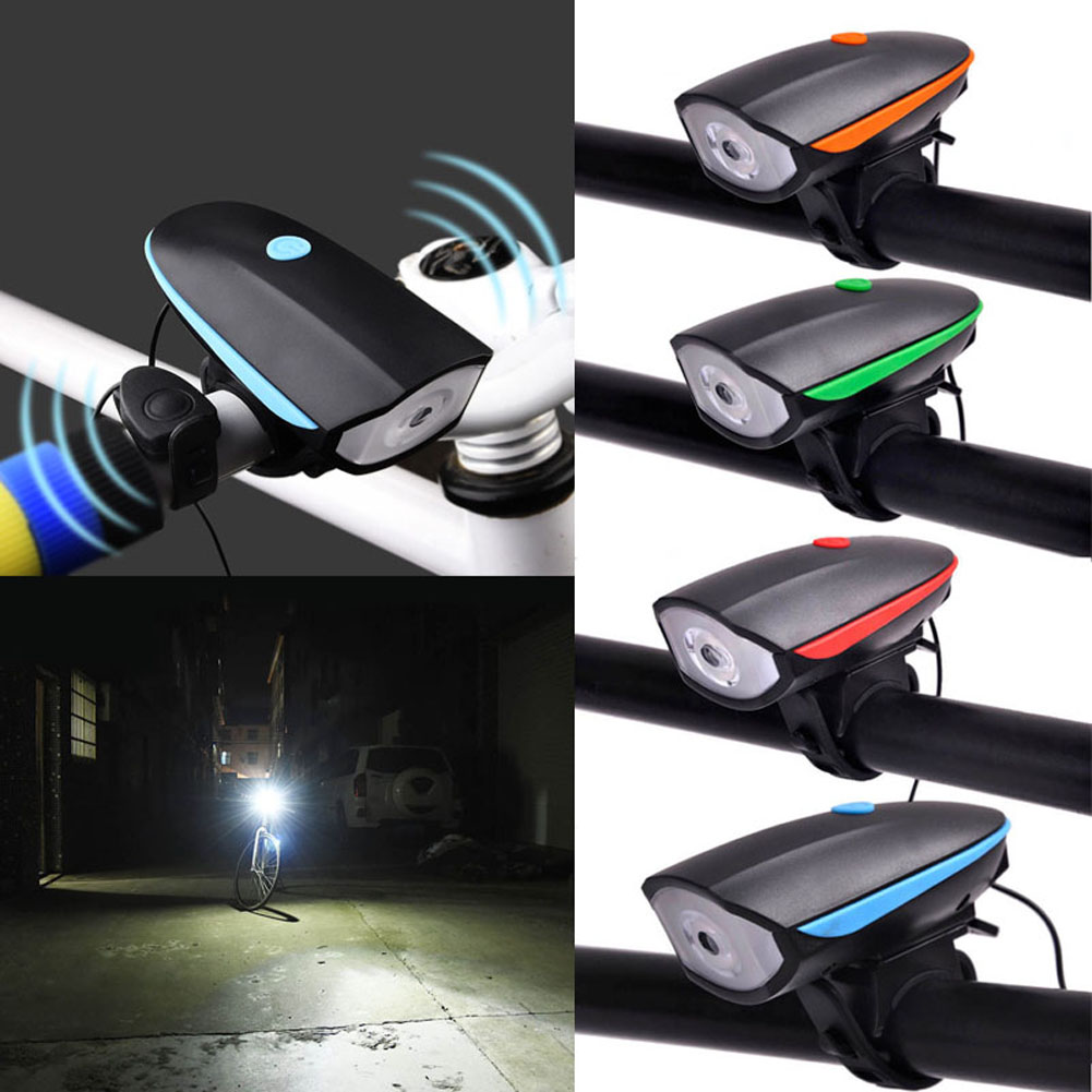 USB Rechargeable 2-in-1 Bike Horn Lights 3 Light Mode 120 DB Cycling Handlebar Ring Bell Bike Light 88 B2Cshop