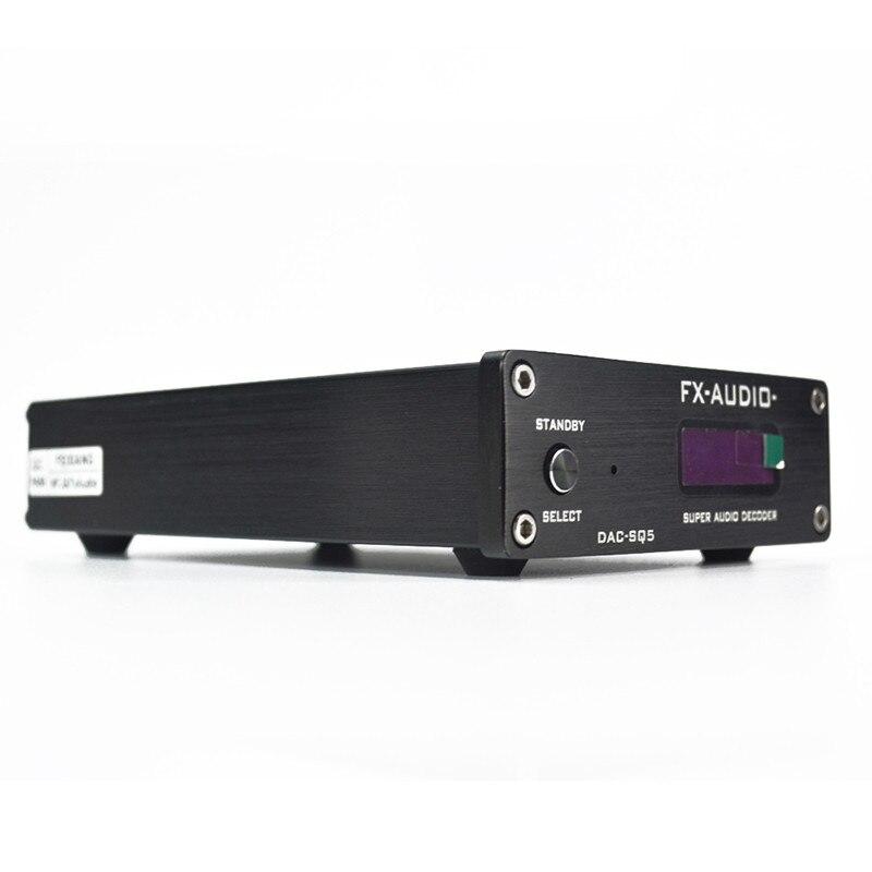 DAC FX-Audio DAC-SQ5 HiFi 2.0 Digital Audio Decoder Input USB/Coaxial/Optical PCM1794A+AK4113+VT1729USB DC12V/1A with Controller