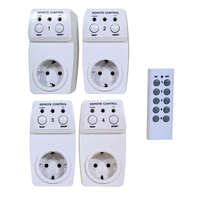 4pcs Wireless Remote Controlled Socket Multi Integrated IC And High Frequency Coding System Support Manual And
