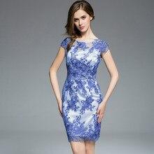 Nueva bodycon del partido de coctel de las mujeres elegantes sin mangas de la cremallera volver floral lace dress corto borgoña vestidos de las mujeres más el tamaño s-3xl