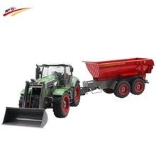 RC Car 8 Channel 4 Wheel Loader Remote Control Farm Tractor Manual Detachable Dumper Trail With