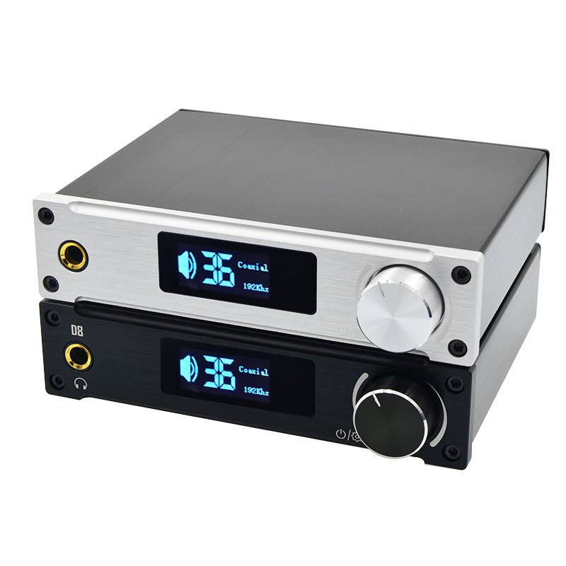 ALIENTEK D8 Class D XMOS 80W*2 Mini Hifi Stereo Audio Digital Amplifier Coaxial/Optical/USB Amplifier + Power Supply mini digital power amplifier board 2 3w class d audio module usb dc 5v pam8403