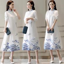 Shanghai Story Mordern Qipao Faux Silk traditional dress Chinese Oriental dress Chinese Women's Clothing retro Cheongsam Long