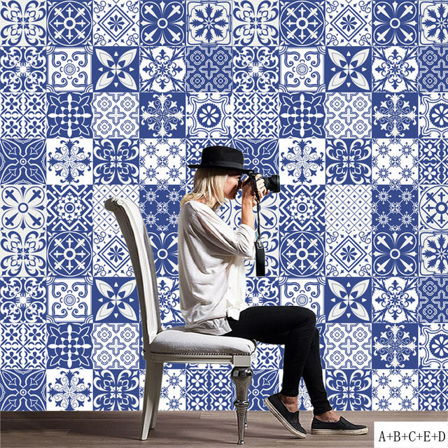 Aliexpresscom Buy Promotion New Arrival Blue White Porcelain - Blue and white tiles for sale
