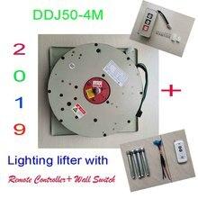 50 кг 4 м настенный выключатель + пульт дистанционного контролируемое освещение атлет подъемник для люстры лампа подъёмник для освещения подъема Системы, 110 V, 120 V, 220 V, 230 V, 240 V
