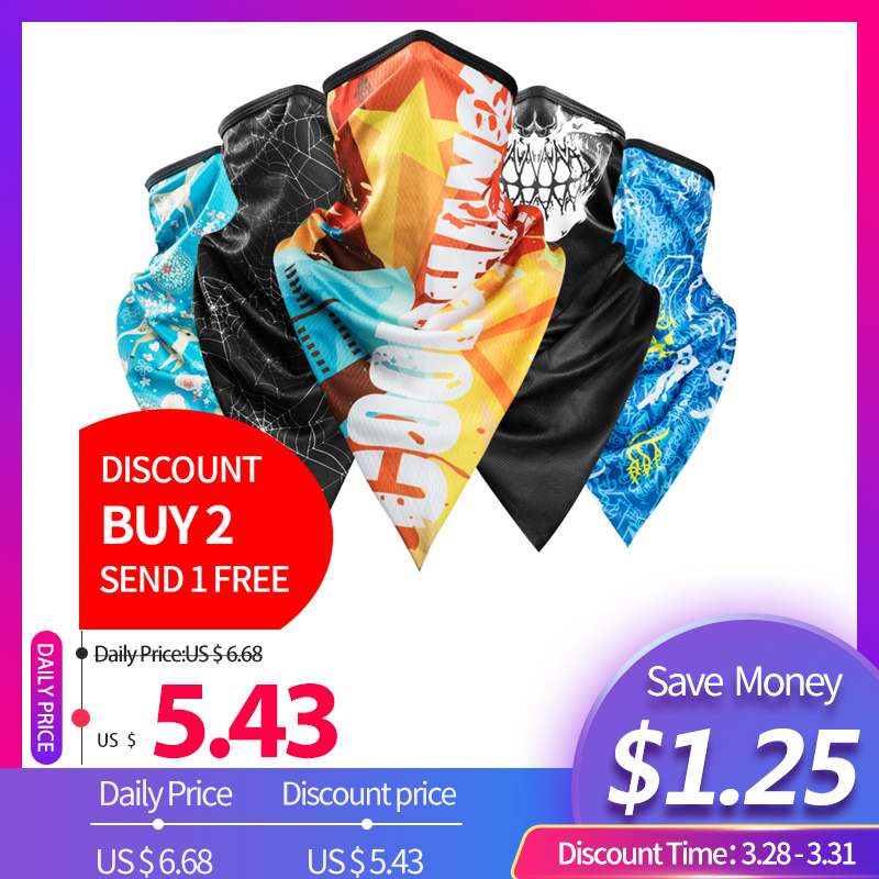 CoolChange Cycling Bandana Summer Outdoor Sports Scarf Bike Triangle   Headwear   Ride Neck Mask Bicycle Headband Scarf Equipment