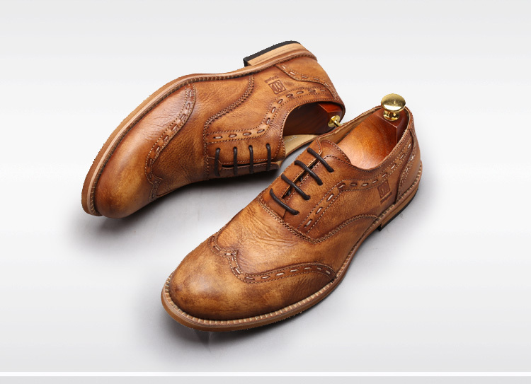 Vintage men oxford shoes genuine leather round toe european vintage men oxford shoes genuine leather round toe european fashion mens shoes new brand italian dress formal mens shoes 44 in womens flats from shoes on publicscrutiny Choice Image