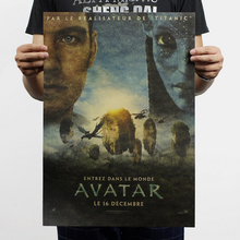 Free shipping,Avatar/Cameron's Science fiction movies/kraft paper/Cafe/bar poster/Retro Poster/decorative painting 51×35.5cm